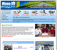Web site design for Wana RV