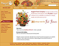 Web site design for Wygant's Floral