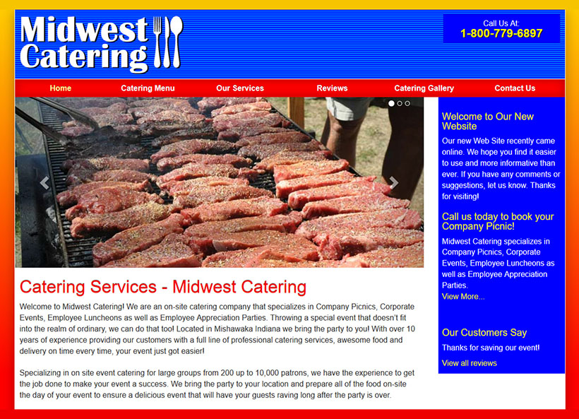 Website Design for Catering Company
