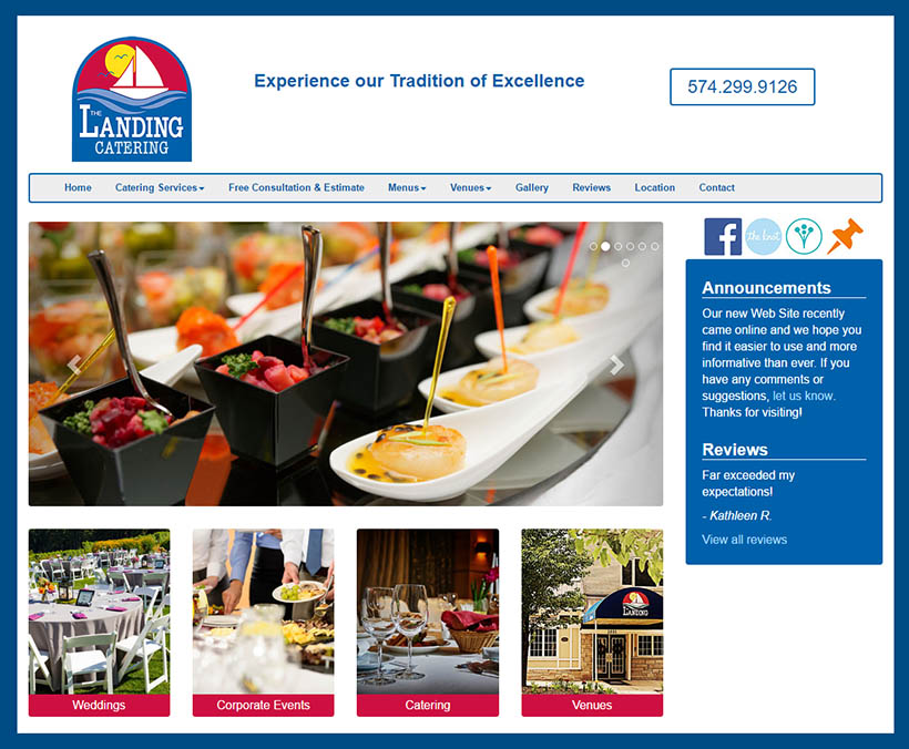 Website Design for Caterer